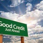 Good Credit Just Ahead Signage