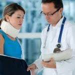 Injured Lady Checked On By Doctor