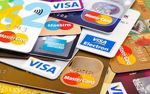 Various Visa MasterCard credit cards