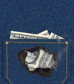money-burning-jeans-pocket