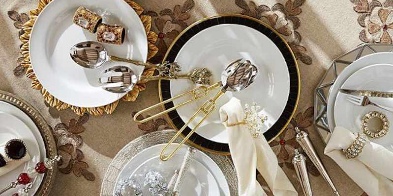 Dazzling dinnerware from Pottery Barn.