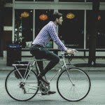 guy riding a bicycle