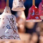 hanging ceramic bells