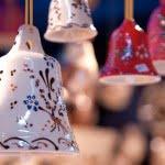 hanging ceramic bells