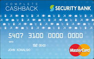 Security Bank Complete Cashback Credit Card image