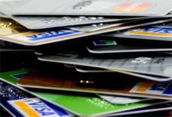 credit cards piled up image