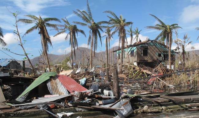 Image of Typhoon Haiyan Damage