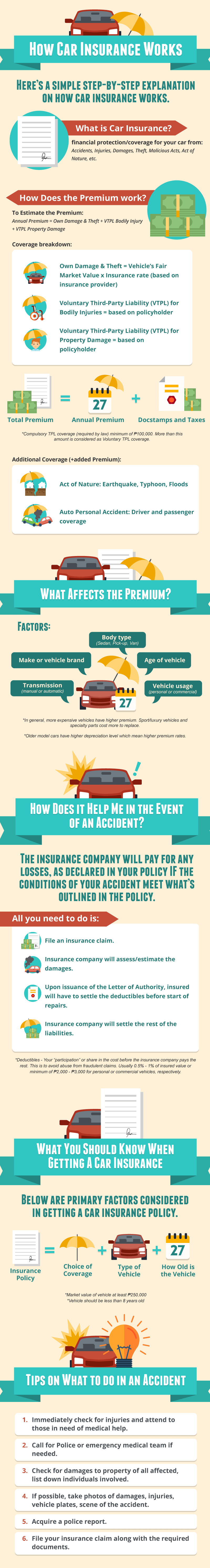 Infographic on How Car Insurance Works image