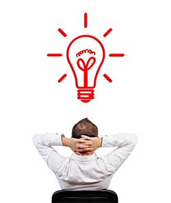 Image of man with idea
