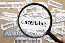 uncertainty text magnified