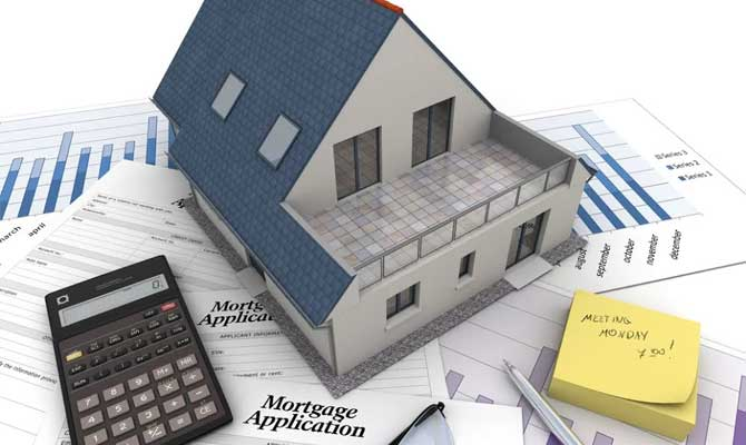 house model and documents