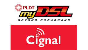 PLDT and Cignal logos