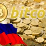 Bitcoin cryptocurrency and Philippine flag
