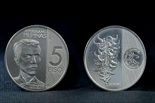 New ₱5 Coin Features Andres Bonifacio