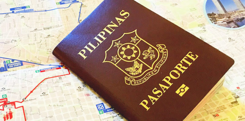 Philippine passport with map