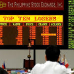 Philippine Stock Exchange ticker board
