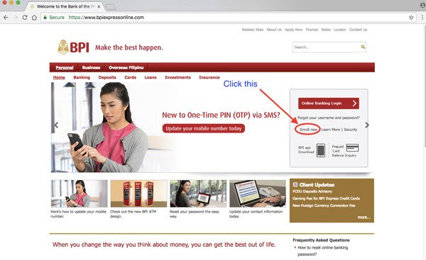 BPI Online Banking Enrollment