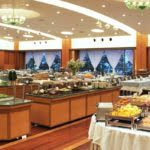 Buffet table in hotel