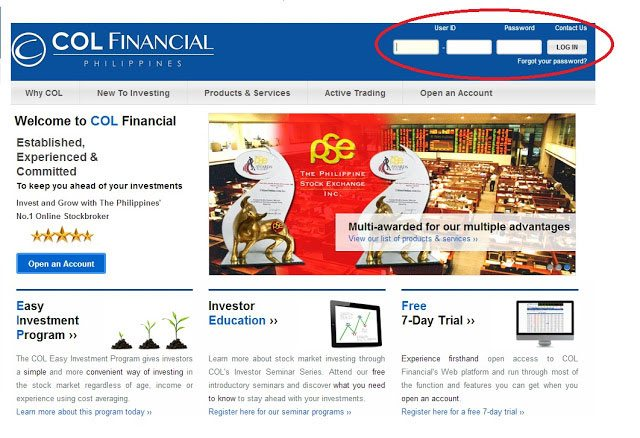COL Financial Login