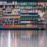 goods in grocery shelves