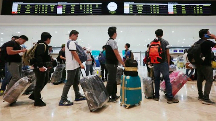 OFWs getting ready to depart