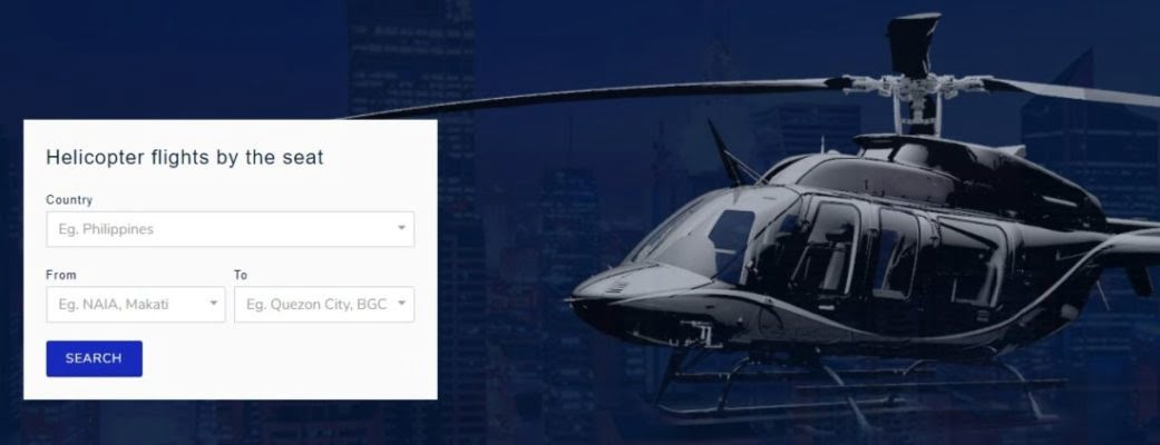 Helicopter Ride-Sharing Platform Launched In Manila