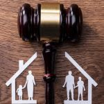 image of paper house and family divided divorce