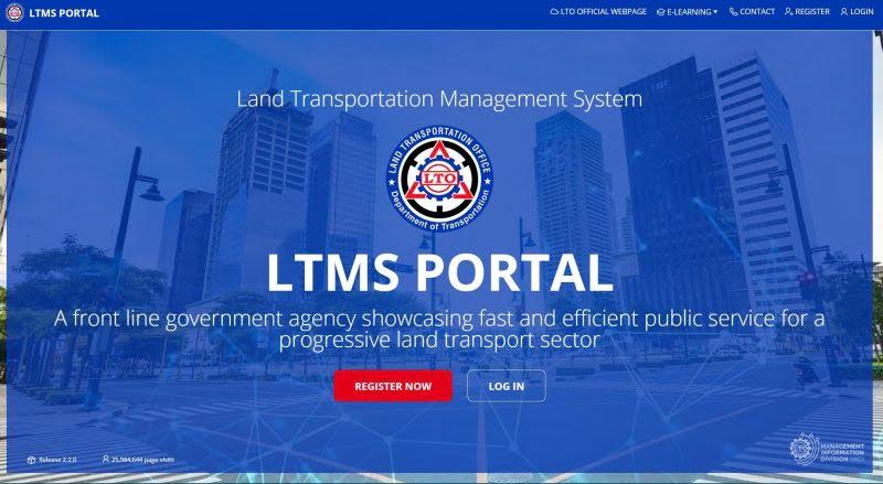 ltms portal home page registration