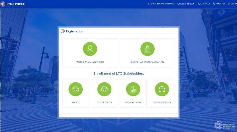 ltms portal registration enrollment options