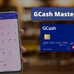 hand holding a phone that has gcash app opened and a gcash mastercard on the side