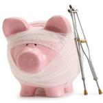 pink pig bandage crutches