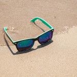 shades on the beach sand