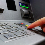 Person using the ATM machine