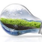light bulb green environment