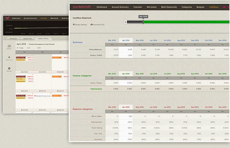 PocketSmith financial forecasts.
