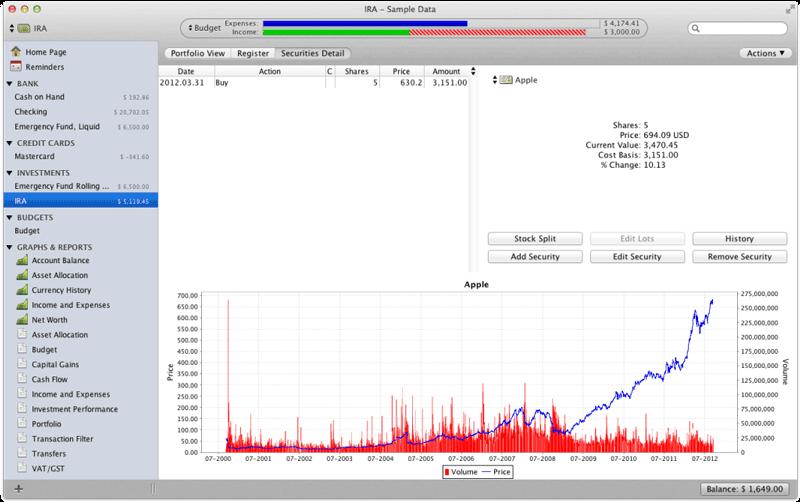 Moneydance investment data.