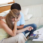 couple troubled by expenses