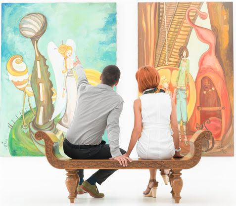 couple at a museum
