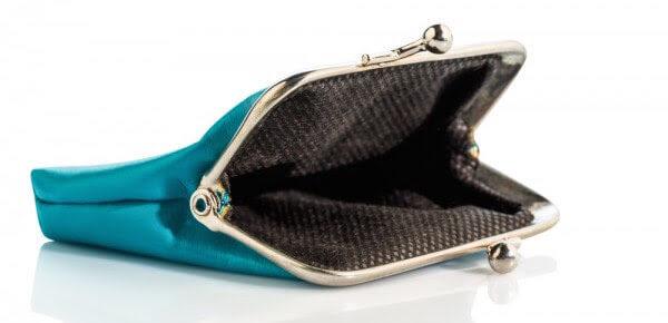 an empty wallet