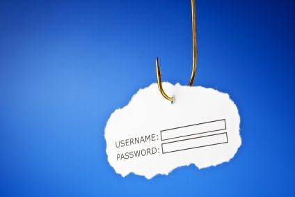 phishing scam password username