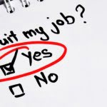 yes checkbox on quitting job