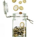 mutual fund in a jar of coins