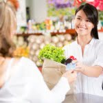 credit card payment in supermarket