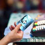 credit card in supermarket