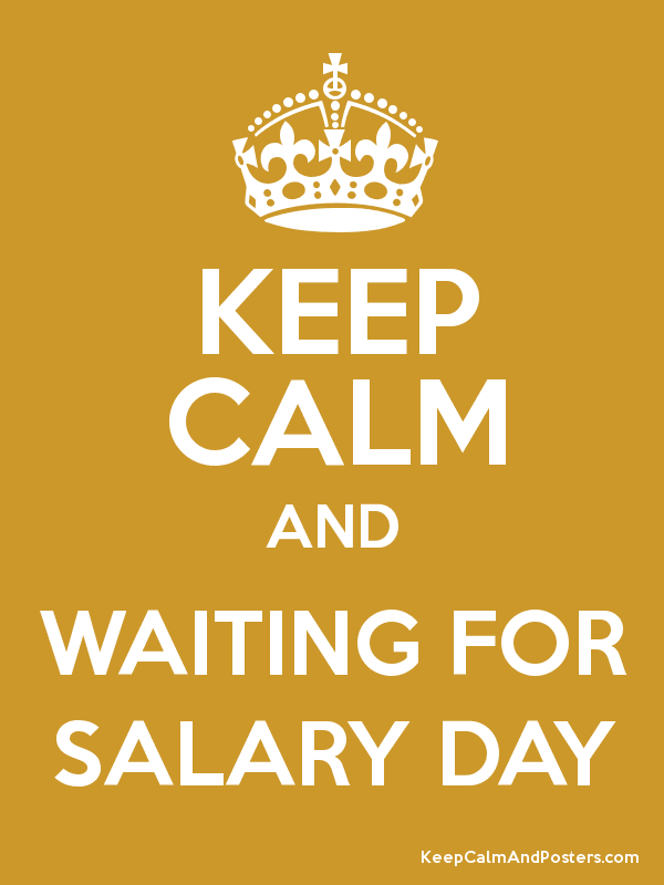 waiting for salary